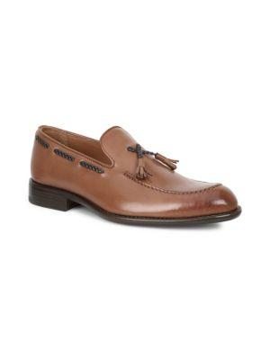 BRUNO MAGLI Fabiolo Leather Dress Loafers in Cognac