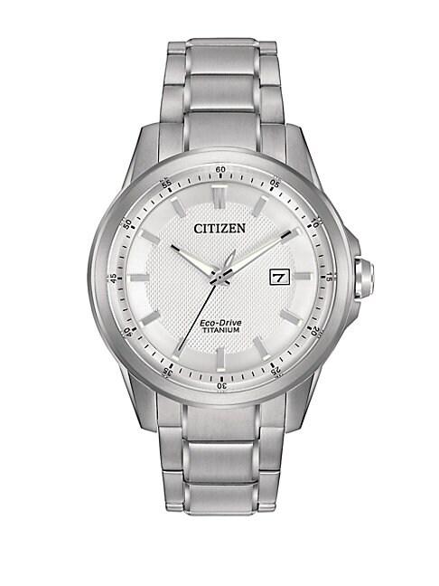 CITIZEN | Eco-Drive Men's Titanium Bracelet Watch | Goxip
