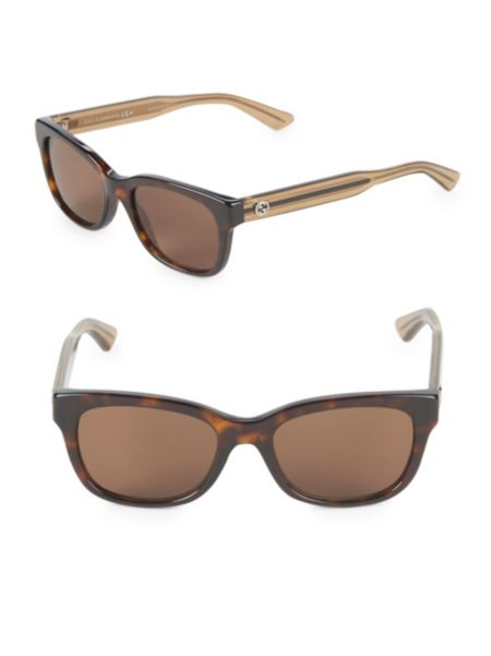 50 Mm Oval Sunglasses by Gucci
