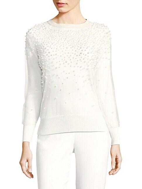 Verna Merino Wool Pearl Sweater