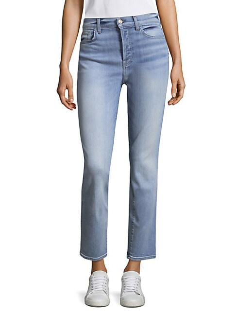 7 FOR ALL MANKIND | Edie Ankle Straight Jeans | Goxip