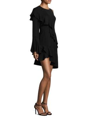 Parker One-Shoulder Ruffle Dress