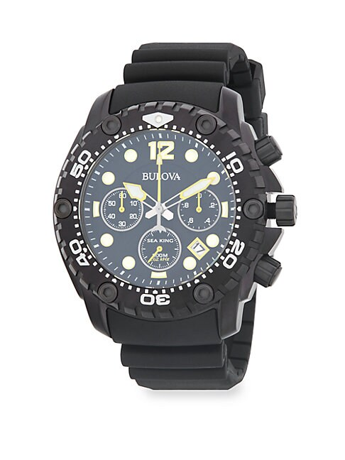 BULOVA | Sea King Stainless Steel Chronograph Rubber-Strap Watch | Goxip