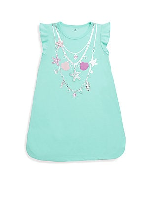 Little Girl's Embellished Mermaid Nightgown