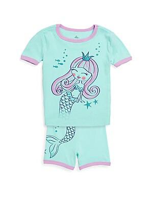 Little Girls TwoPiece Little Mermaid Pajama Set