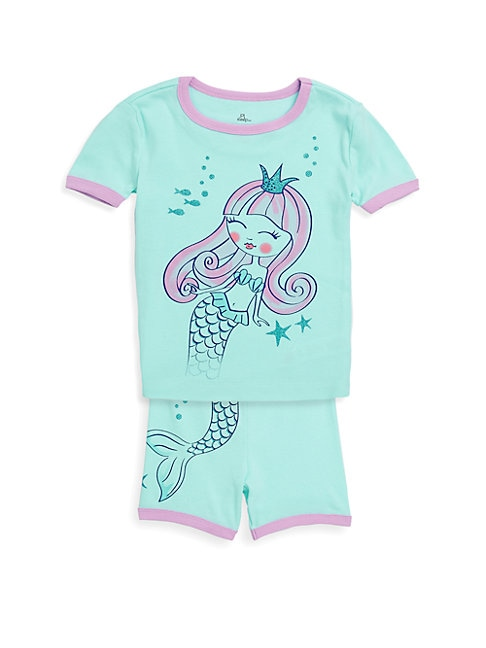 Little Girl's Two-Piece Little Mermaid Pajama Set