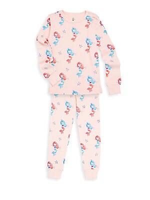 Little Girls TwoPiece Printed Pajama Set