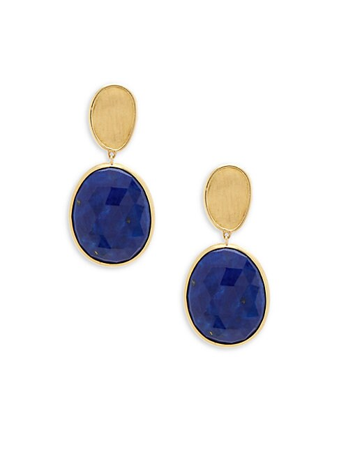Lunaria Lapis and 18K Yellow Gold Double Drop Earrings