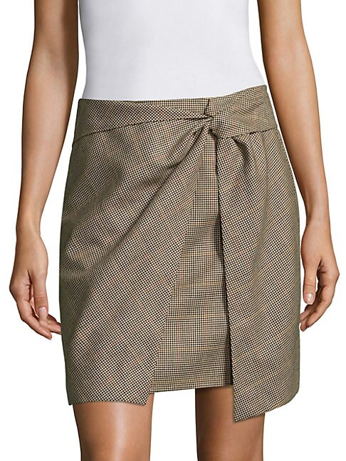 LOGAN PLAID SKIRT