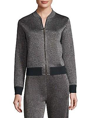 Metallic Zip Front Jacket