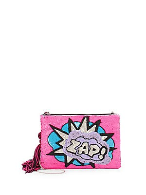 Zap Beaded Convertible Clutch