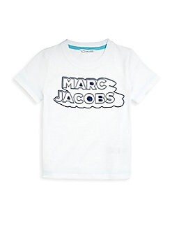 6d1761a65868 Little Boy's and Boy's Logo Cotton Tee WHITE. QUICK VIEW. Product image