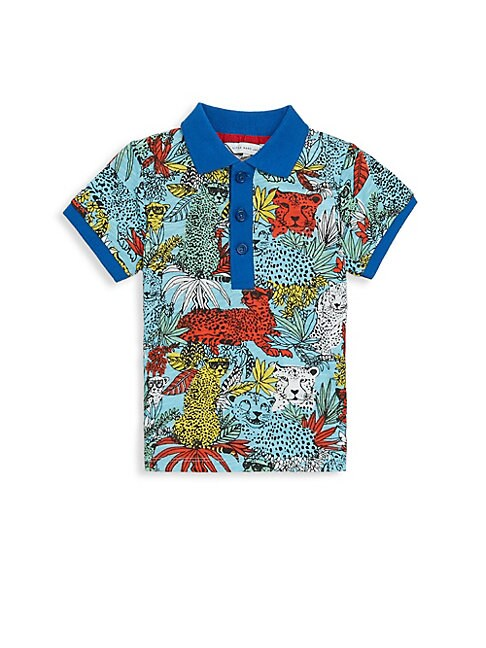 Jungle-Print Cotton Polo