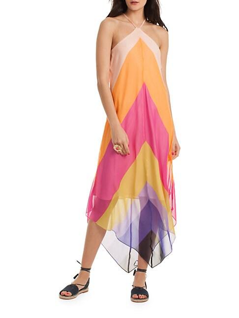 Hummingbird Silk Dress
