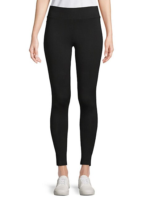 HUE Brushed Arrow Cable Seamless Leggings in Black