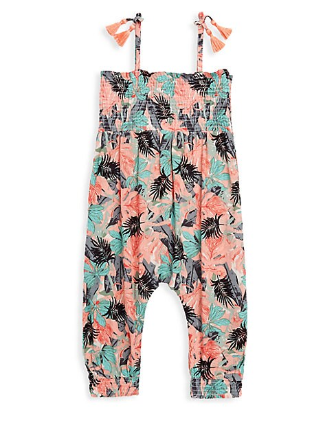 Baby Girl's Floral Romper