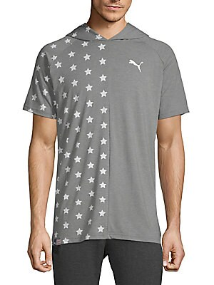 Fourth of July Star Hooded Tee