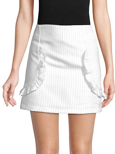 FREE GENERATION | Pinstripe Mini Skirt | Goxip