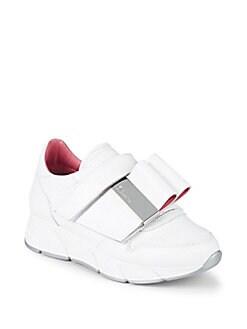 Chaussures De Sport Pour Les Femmes En Vente, Argent, Cuir, 2017, 6,5 Prada