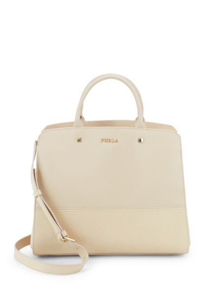 Zip Leather Top Handle Bag by Furla