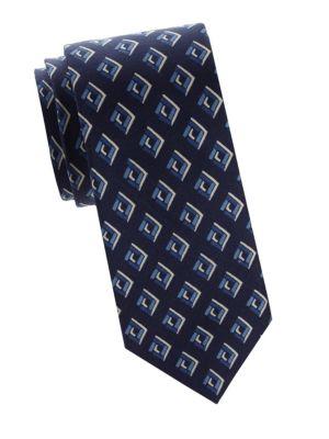 Ralph Lauren Abstract Print Silk Tie