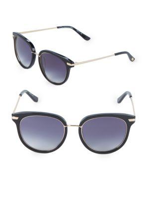 O BY OSCAR DE LA RENTA 51Mm Square Sunglasses in Black Gold