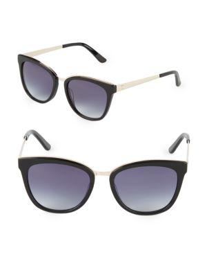 O BY OSCAR DE LA RENTA 54Mm Square Sunglasses in Black Gold