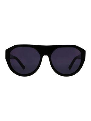 O BY OSCAR DE LA RENTA Mercy 55Mm Flattop Sunglasses in Black