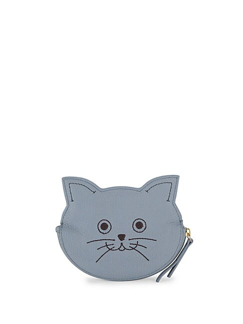 Cat Leather Coin Purse