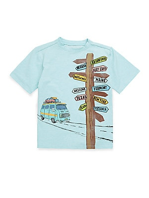 BOY'S STRETCH COTTON DIRECTIONAL SIGN TEE