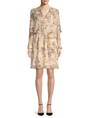 Abs By Allen Schwartz Floral Popover Dress