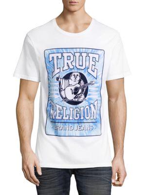 True Religion Logo Graphic Cotton T-Shirt