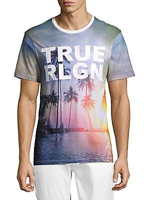 Cotton Sunset Palm Tree T-Shirt
