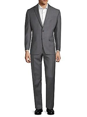 Windowpane Slim-Fit Suit