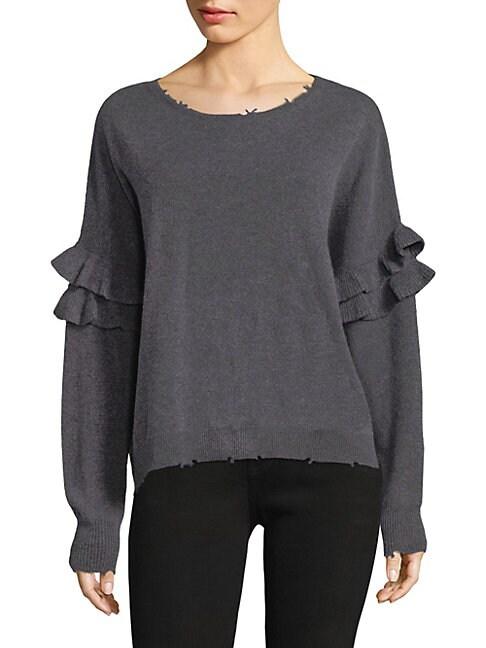 Frayed Ruffle Sweater