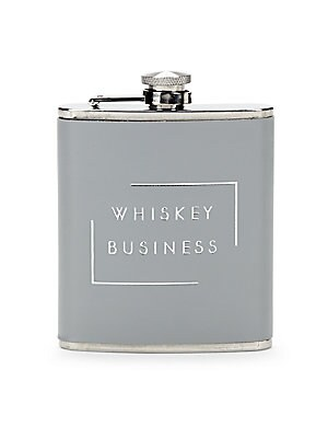 STAINLESS STEEL WHISKEY BUSINESS FLASK