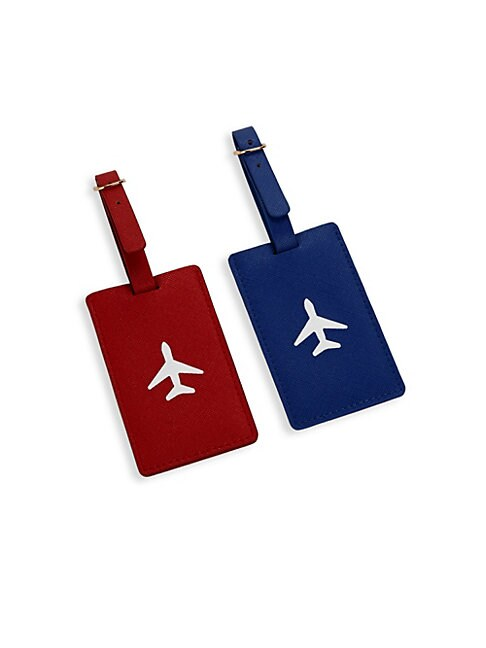 TWO-PIECE AIRPLANE LUGGAGE TAG SET
