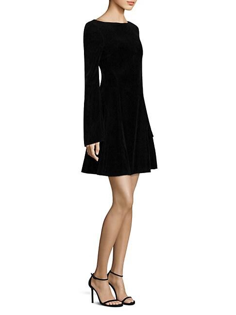DEREK LAM | Velvet Lace-Up Mini Dress | Goxip