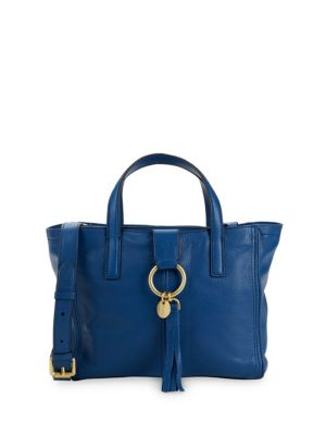 Fantine O Ring Group Small Tote Bag in Navy Peony