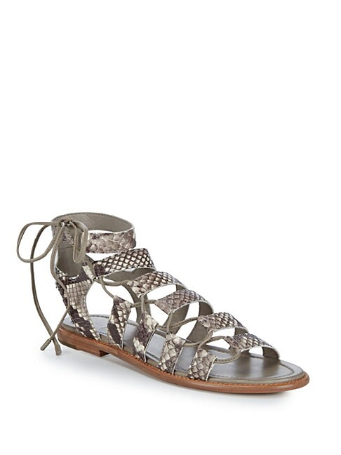 Blair Side Ghillie Leather Gladiator Sandals