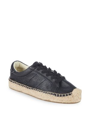 Platform Tennis Espadrille Sneakers in Black