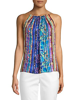 Multicolored Stripe Sleeveless Top