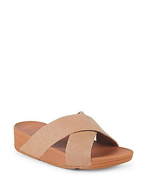 Lulu Cross Slide Sandals