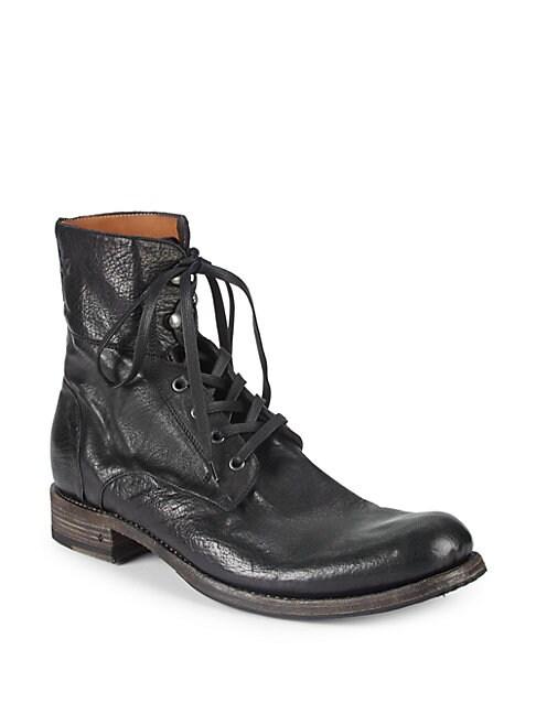 Six-O-Six Leather Combat Boots