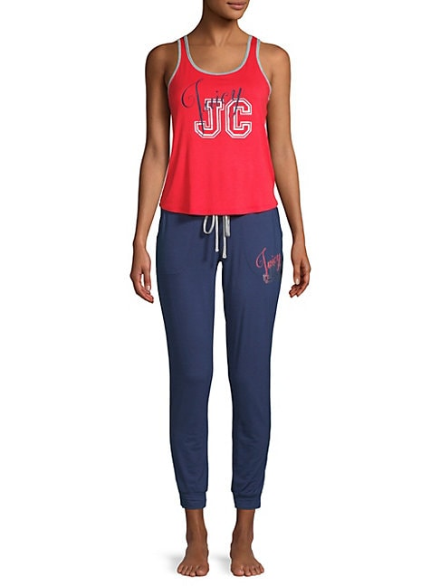 Juicy Couture TWO-PIECE GRAPHIC TANK TOP AND PANTS SET