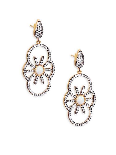 AZAARA | Crystal & Sterling Silver Drop Earrings | Goxip