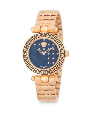 Versace Studded Stainless Steel Analog Bracelet Watch