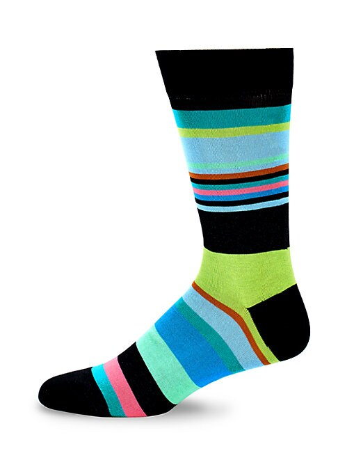 Colorblock Crew Socks