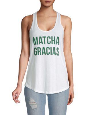 Chrldr Matcha Gracias Cotton Tank Top