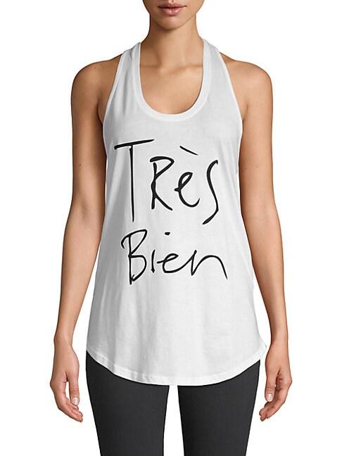 Chrldr Tres Bien Graphic Cotton Tank Top